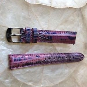 New Michele teju pink leather 16 mm watch band
